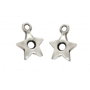 925 SILVER SMALL STAR PENDANT W/HOLE