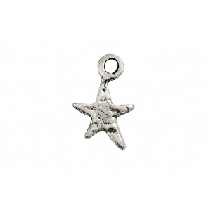 925 SILVER SMALL STAR WHITE