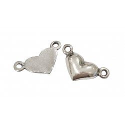 925 SILVER HEART PENDANT WITH 2 RINGS