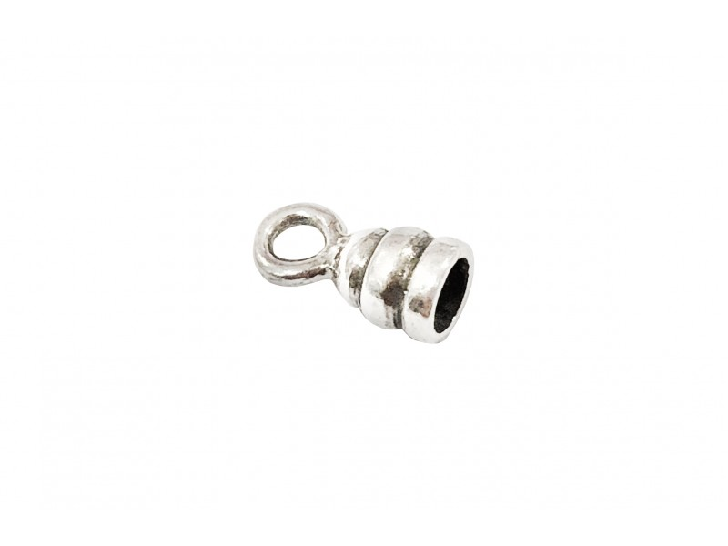 925 SILVER ROUND END CAP 2.8MM