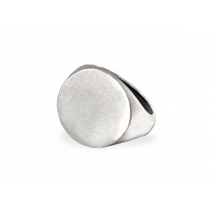 S925 SILVER LARGE ROUND SIGNET RING