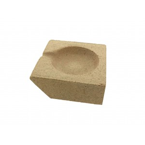 SQUARE REFACTORY CRUCIBLE Length: 5.1cm Width: 5.1cm Height: 2cm