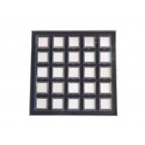 GEM TRAY w/ 25 BOXES - Boxes: 3cmx3cm // Tray: 20cmx20cm