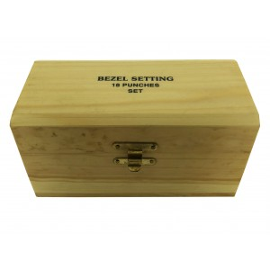 BOXED SET OF 18 BEZEL SETTING PUNCHES (0.75mm-7.75mm), w/ CHUCK HAND-PIECE