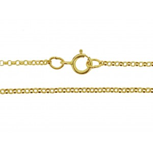 "14K GF FINE READYMADE 16"" ROUND ROLO CHAIN 1.4mm"