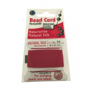 SILK BEAD CORD SIZE 10 (0.9MM) 2 MTRS CORAL