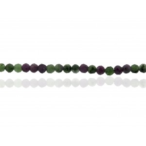 Zosite Ruby faceted 2mm Beads