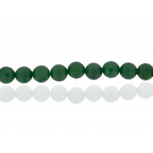 GREEN ONYX 8MM FACETTED