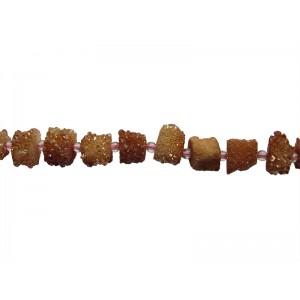 Agate Round 'Cylinder' Druzy Beads