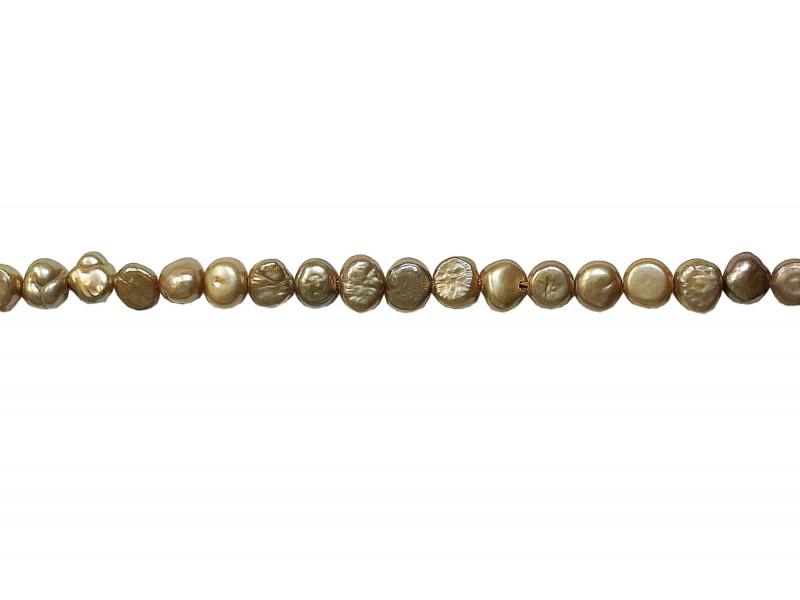 GOLDEN BROWN (IRREGULAR) PEARLS 5MM
