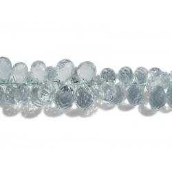 Aquamarine Faceted Drop Briolette Beads
