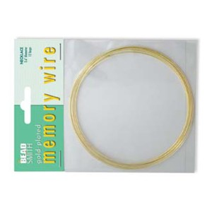 Gold Plated Memory Wire Necklet, 12 loops, D 3.6'' Memory wire