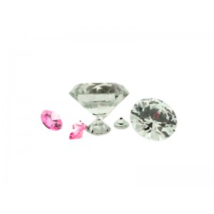 Cubic Zirconia Round Cut Clear 1.0mm