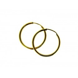 Gold Filled Hoop Earrings 30mm, 1.3mm thickness