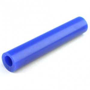 MATT Blue Wax Ring Tube Round with off centre hole