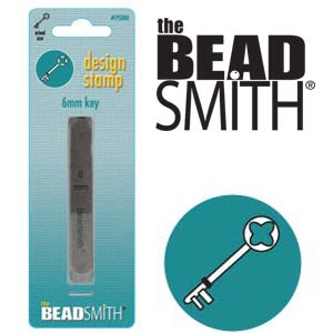 Key Design Stamp 6mm The BEADSMITH