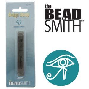 Eye of Horus Design Stamp 6mm The BEADSMITH