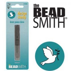 Peace Dove with Olive Branch Design Stamp 6mm The BEADSMITH