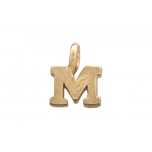 DEEP GOLD PLATE SMALL LETTER PENDANT - M  5000BS/M-GF