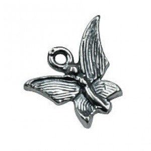Sterling Silver 925 Fairy Butterfly Charm