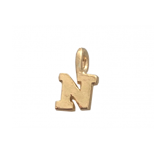 DEEP GOLD PLATE SMALL LETTER PENDANT - N  5000BS/N-GF