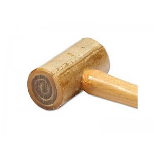 "DELUXE RAWHIDE MALLET, SIZE 0 (2OZ), 1"" FACE"