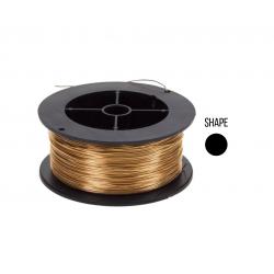 18K Gold Round Wire 0.3mm, yellow