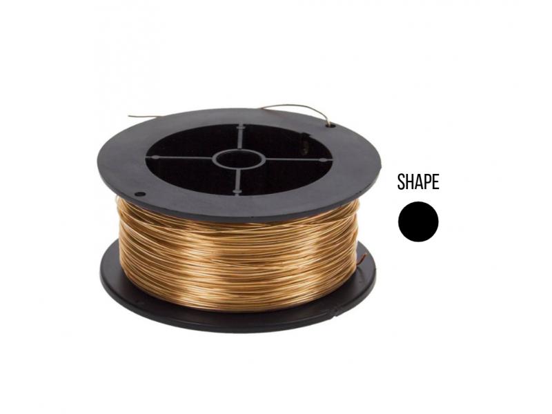 18K Round Wire 0.4mm, yellow