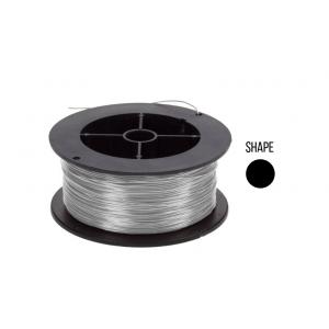 18K Gold Round Wire 0.5mm, white