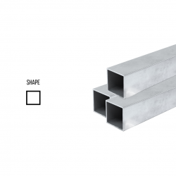 Sterling Silver 925 Square Tube ex. D 7mm, 0.5 mm wall