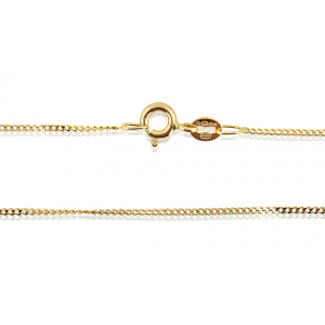 18K Yellow Gold Ready Made Extra Fine Filled Curb Chain 1mm, 18''