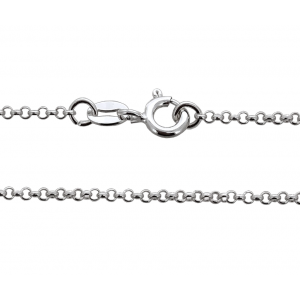Ready Made Sterling Silver 925 Rolo Belcher Chain,16''