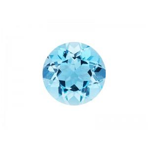 Aquamarine Cut Stone Round, 2 mm