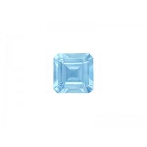 Aquamarine Cut Stone Square, 5 mm