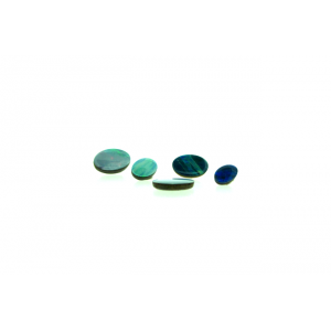 Australian Opal Doublet Cabs Round, 4 mm