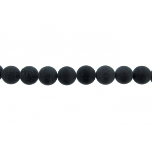 Onyx Black Round Beads, Matt, 10 mm