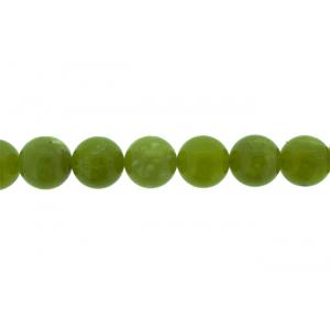 Olive Jade Round Beads, 12 - 14 mm