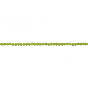 Olive Jade Round Beads, 2 mm
