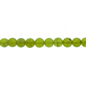Olive Jade Round Beads, 8 mm