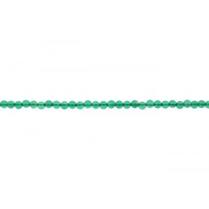 Onyx Green Round Beads, 2 mm