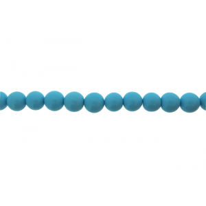 Turquoise Pressed Round Beads, 10 - 12 mm