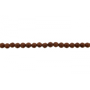 Sandstone Brown Faceted Beads, 6 mm