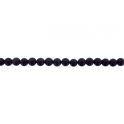 Goldstone Round Beads, Blue, 6 mm