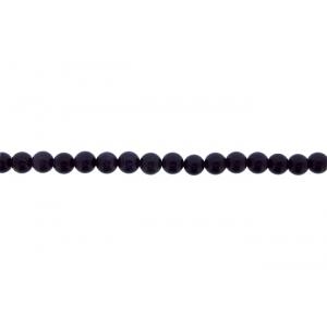 Goldstone Round Beads, Blue, 6 mm