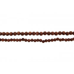 Goldstone Round Beads, Brown, 4 - 6 mm