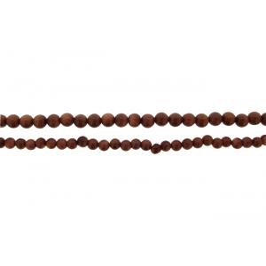 Goldstone Round Beads, Brown, 4 - 6 mm
