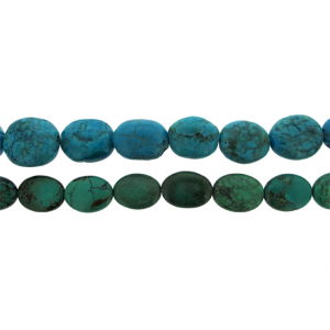 Turquoise Oval Tumble Beads approx. 13.5mm x 16.5mm Turquoise Beads