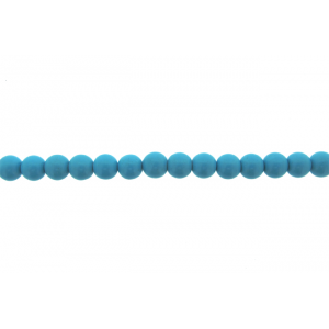 Turquoise Pressed Round Beads, 8 mm