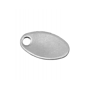 Sterling Silver 925 Chain Tag w/ hole Oval 5.5mm x 10mm