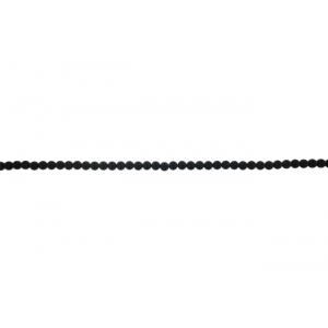 Onyx Black Round Beads, Matt finish, 6 mm